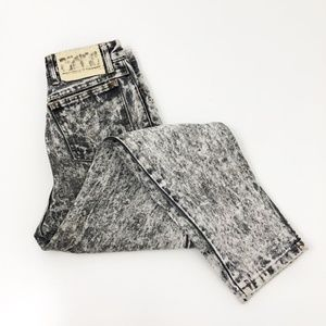 VTG 90's Acid Wash BONGO High Rise Zip Ankle Jeans